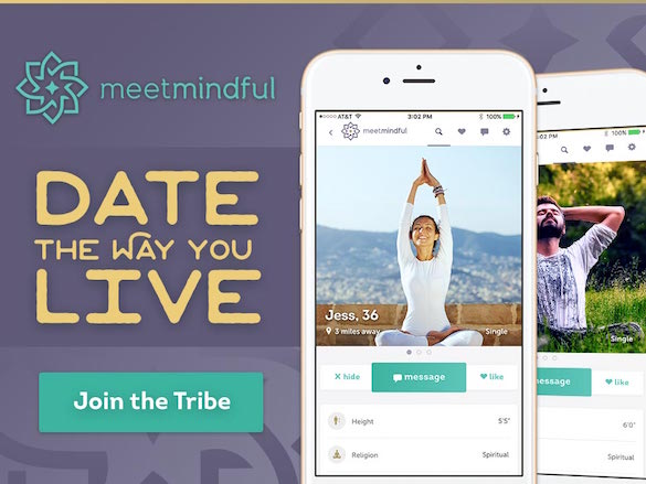 MeetMindful connects singles who are into yoga, meditation and more.
