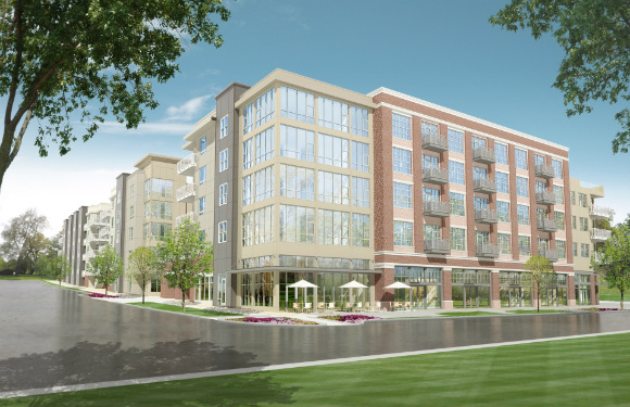 The 317-unit building is scheduled to open in fall 2016.