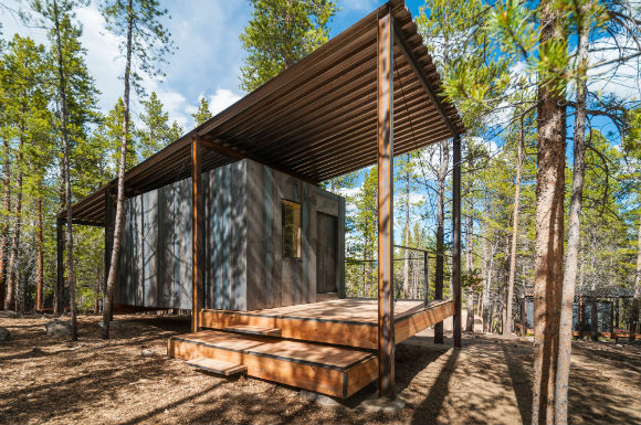 Outward Bound Micro Cabins by Colorado Building Workshop were recognized for built architecture under 20,000 square feet.