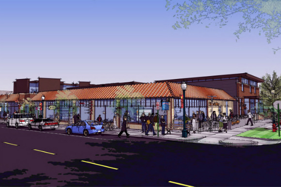 A rendering of Cobbler's Corner in Sunnyside.