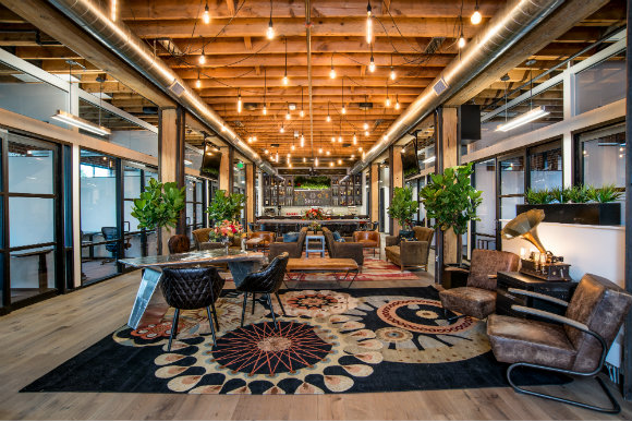 The lobby and main lounge at Shift Bannock feature some serious style.