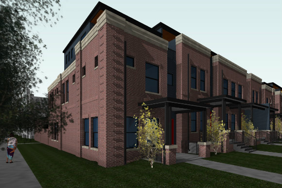 The rowhomes will range from 2,000 to 2,400 square feet.