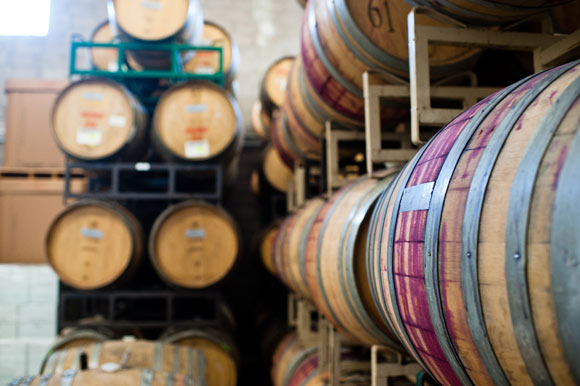 Wine-stained barrels at Infinite Monkey Theorem in RiNo.