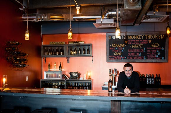 Ben Parsons, owner and wine maker of Infinite Monkey Theorem.