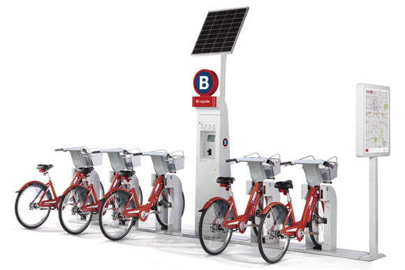 A B-cycle station.