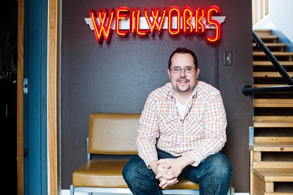 Tracy Weil, the owner of Weilworks Gallery, helped form the River North Art District in 2005.