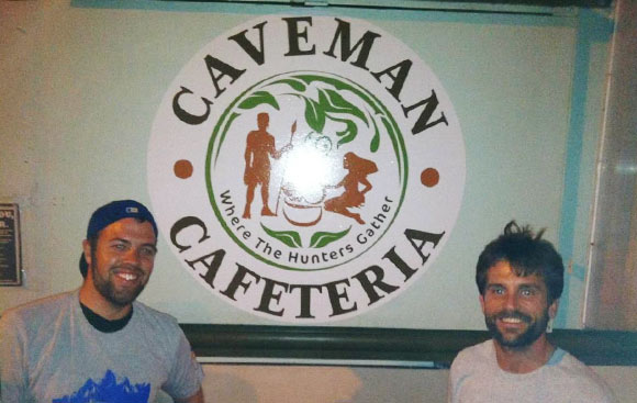 Will White, owner, and David Kenney, executive chef, of Caveman Cafeteria.