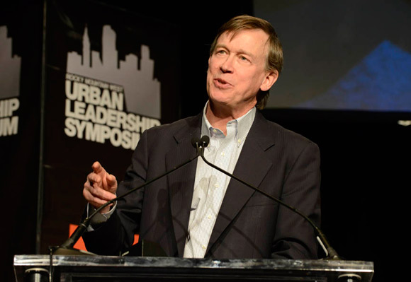 Governor John Hickenlooper spoke at the Rocky Mountain West Urban Leadership Symposium in 2013.