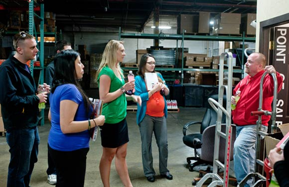 CSU Supply Chain Management students get feedback from a Coca-Cola employee.
