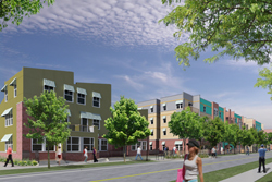 A rendering of the Mariposa redevelopment in La Alma/Lincoln Park.