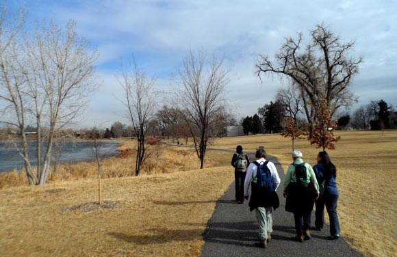Walking the Lakeside Trail at Crown Lake on a 13-mile walkabout.