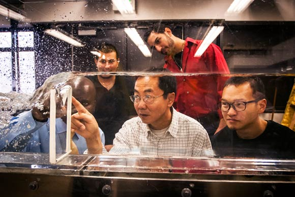 MSU Denver students study hydrodynamics.