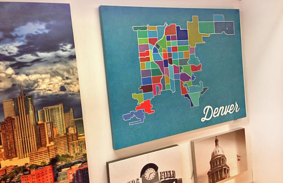 A map of Denver's neighborhoods.