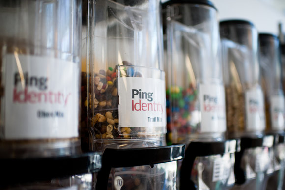 Ping Identity offers healthy snacks in the cafeteria.