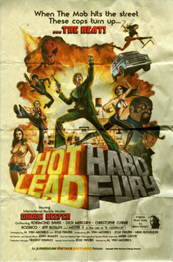 The poster for Hot Lead Hard Fury.