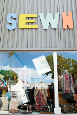 Sewn, a boutique specializing in local clothing and accessories.