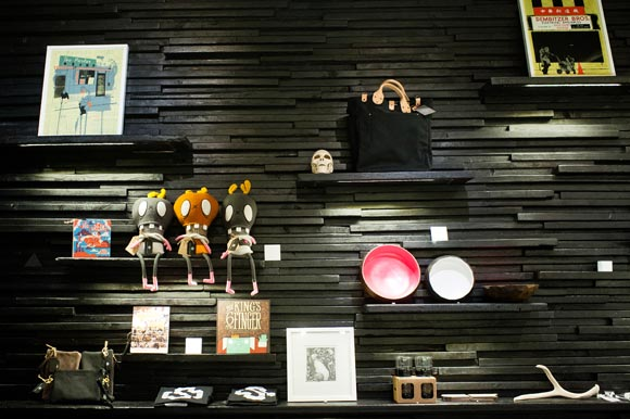 Fun, quirky items decorate the walls at Svper Ordinary