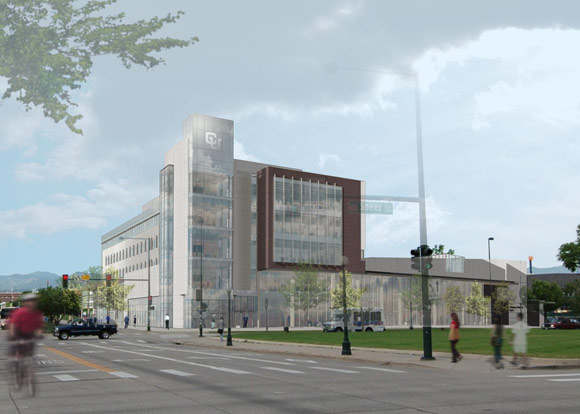 A rendering of CU Denver's new Academic Building 1.