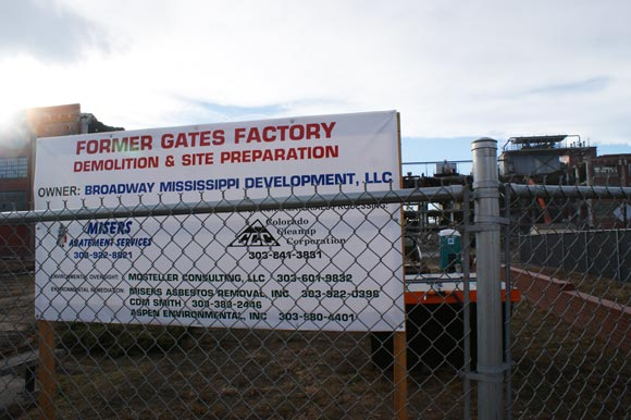 Gates started demolishing the complex in Nov. 2013.