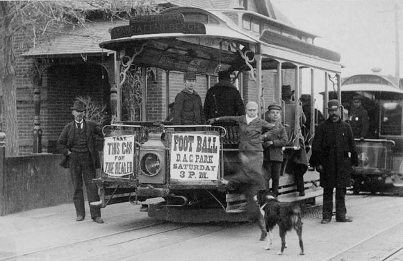 A look at a streetcar in Denver in 1895.