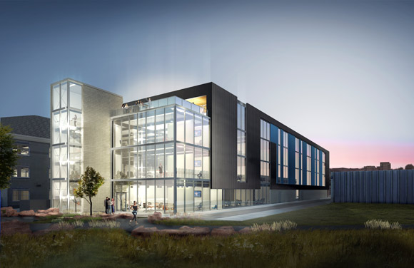 A rendering of the new Galvanize facility at 1644 Platte St.