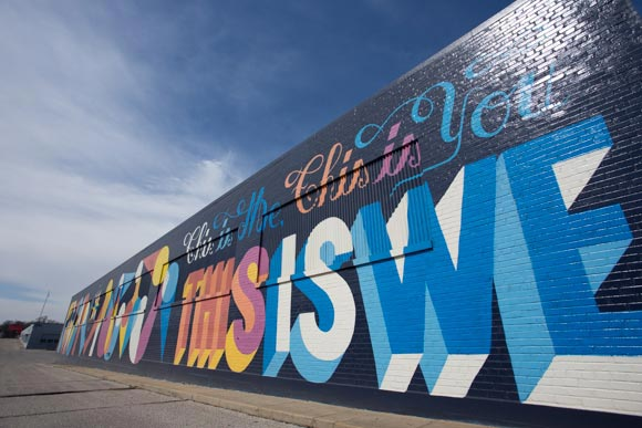 The This is We mural was created on Broad Avenue during its revitalization project.