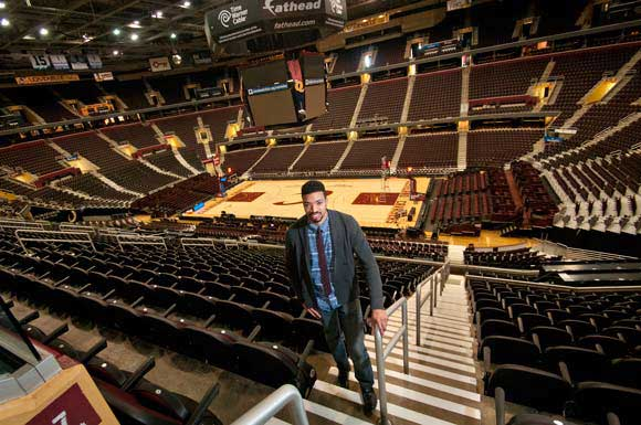Mark Wright, Corporate Communications Manager at Cleveland Cavaliers.
