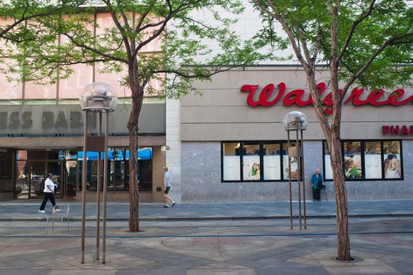 Walgreens at 16th and Stout streets is taking over the space next door, formerly Dress Barn.
