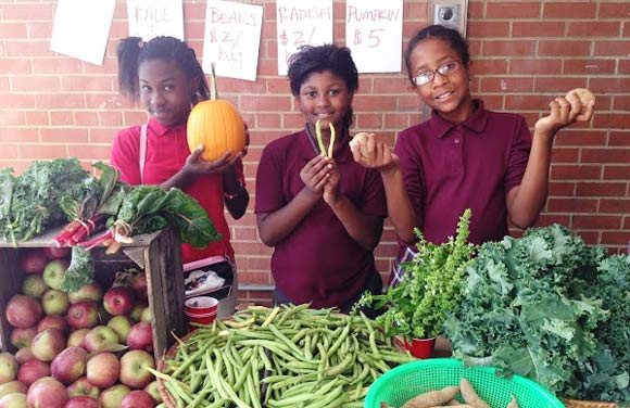 Food grown at a DC school.