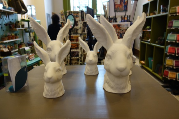 The retailers are handpicked, including 5 Green Boxes, puveyors of bunnies, baby heads and other offbeat decor.