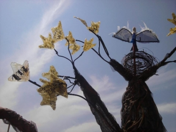 "A ""neo-bottle"" tree in the Irrigate project."