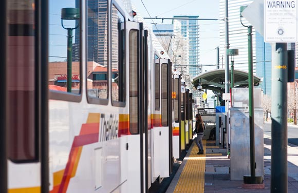 Light rail in Denver.