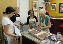 Ink Lounge is the choice for artists who want to socialize and perfect their screenprinting skills.