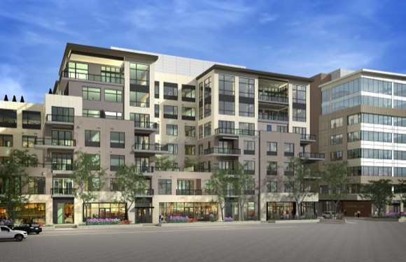The mixed-use 250 Columbine is slated to open in mid-2015.
