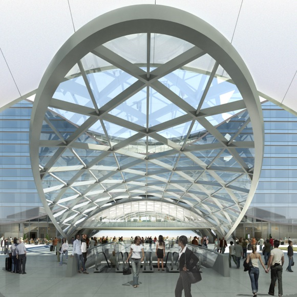 The DIA plaza will integrate with the main terminal's architecture.