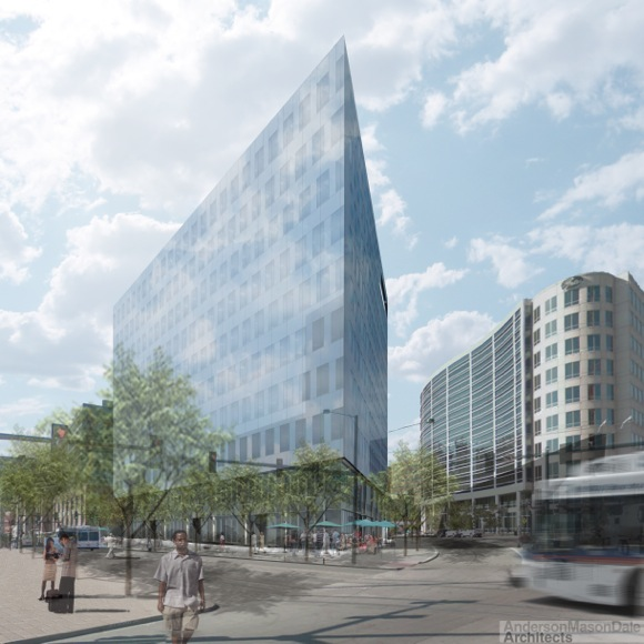 The Triangle Building will provide a gateway between the 16th Street Mall and Union Station.