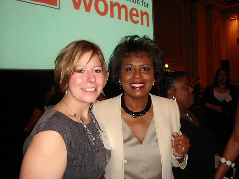 Tawnee McCluskey strikes a pose with the Honorable Anita Hill.