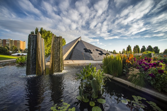The pyramid is a perfect match for the Denver Botanic Gardens.