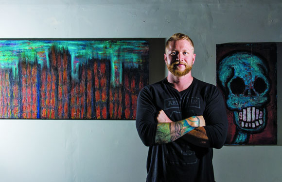 Curtis Bean started leading art therapy sessions in 2013.