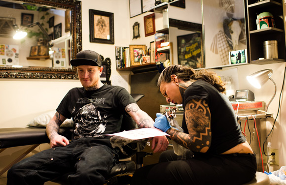 More than one in five American adults -- 21 percent -- has at least one tattoo, according to a 2012 Harris poll.