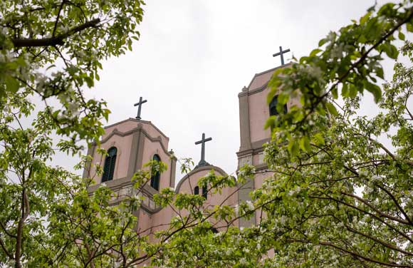 St. Cajetan's is a Catholic church and Denver landmark.