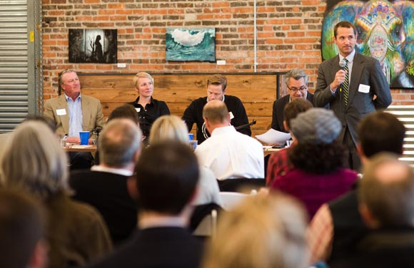 Confluence Denver and Otten Johnson presented a panel discussion on talent and housing.