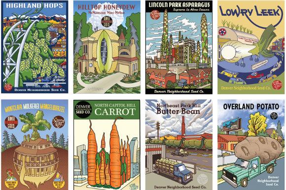 A Cartoon Garden: Kenny Be's Denver Neighborhood Seed Company