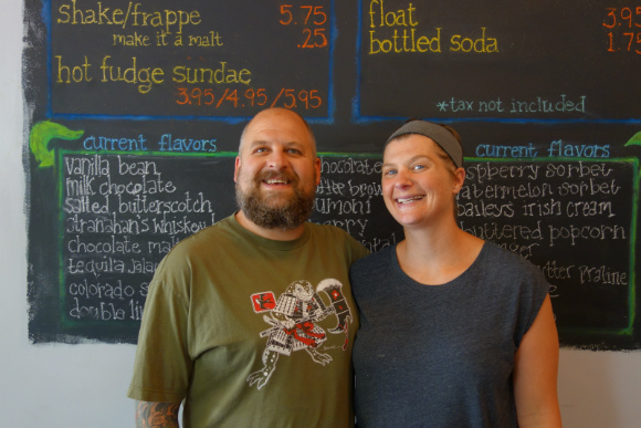 Sweet Action founders Chia Basinger and Sam Kopicko filled a neighborhood need for ice cream.