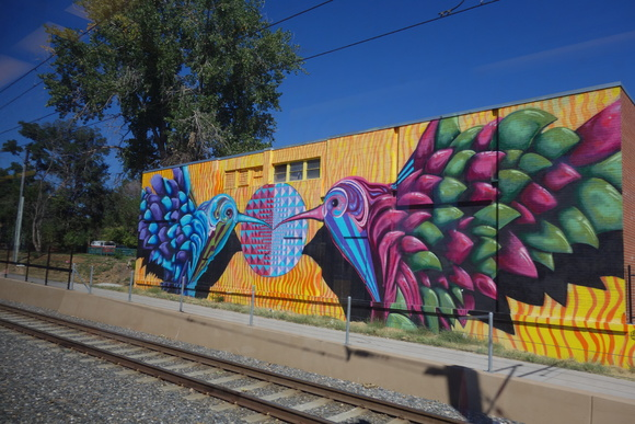 Street art off the W Line.