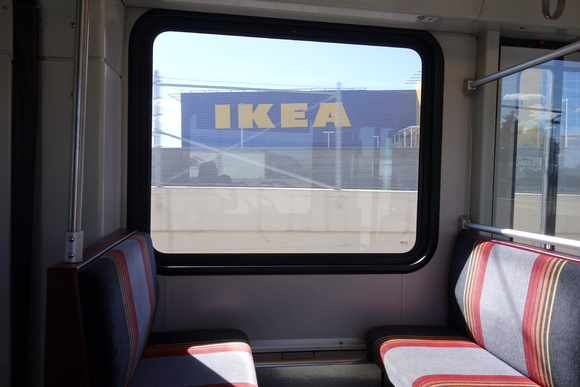 IKEA from light rail.