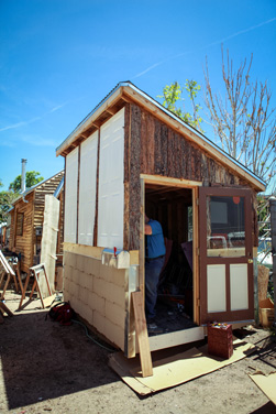 Tiny house built in part by Mesa Middle School students.