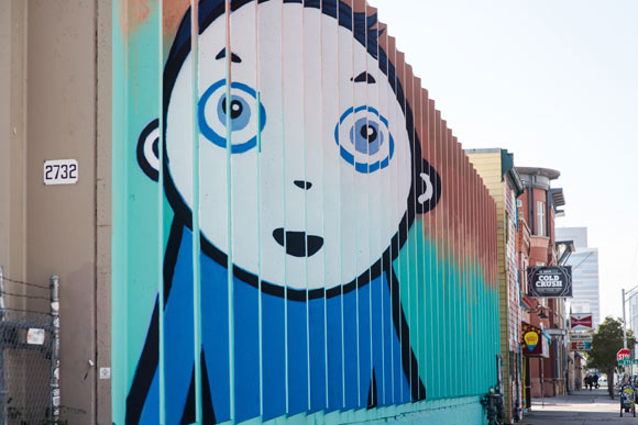 Upper Larimer is a gallery of street art.