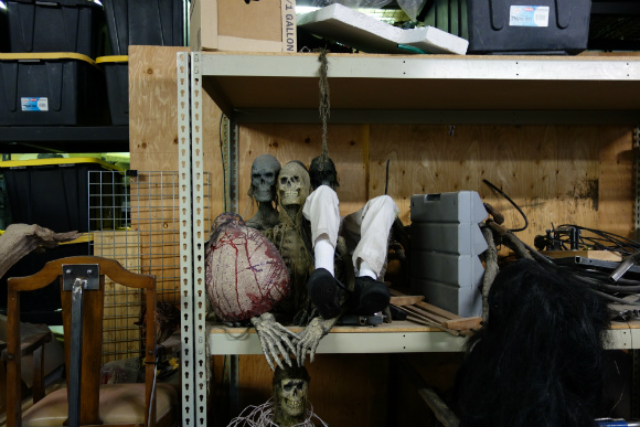 There are all sorts of macabre things in the stockroom.