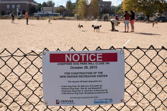 The Josephine Gardens dog park will close for good on Oct. 26.